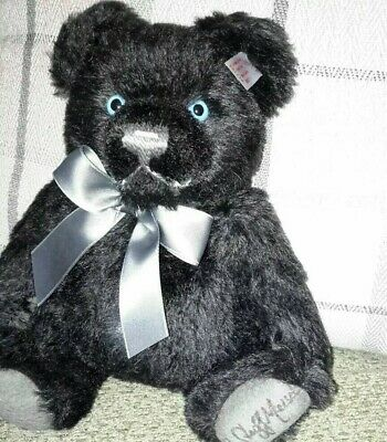 "2007 STEIFF black Jackie bear limited edition mohair 681110 SIGNED 12"" NEW"