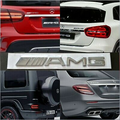 Stemma logo AMG Mercedes 3D per baule adesivo in ABS chrome emblema badge