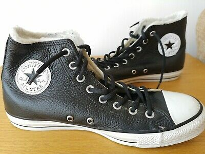 ef9a2bd3af1be Unisex Chuck Taylor Converse All Stars In Black Leather Uk 8 Superb  Condition
