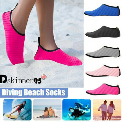 UK Water Shoes Aqua Socks Diving Socks Wetsuit Non-slip Swim Beach For Women Men