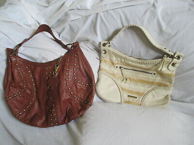 Lot Of 2 Isabella Fiore Large Leather Tote Bags