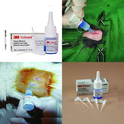 3M Vetbond Tissue Adhesive, 3ml Bottles w/MSDS Bottle