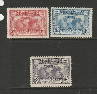 Australia 1931 Kingsford Smith set MM SG 121/3