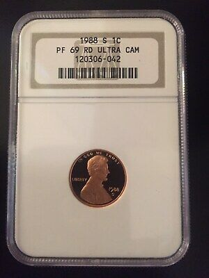 1988 S Lincoln Memorial Small Cent Proof NGC Certified PF 69 RD Ultra Cameo