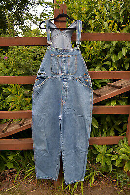 """Distressed Stonewashed Oversized Baggy Overalls Dungarees BILL BLASS 42"""" Waist"""