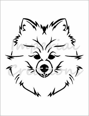 """/""""CHOW CHOW/"""" Chinese Dog Breed Face 8.5/"""" x 11/"""" Stencil Plastic Sheet NEW S141"""