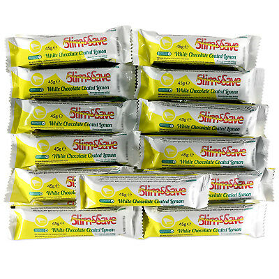 25 White Chocolate Coated Lemon LowCarb HighProtein MRP VLCD Slim&Save Diet Bars