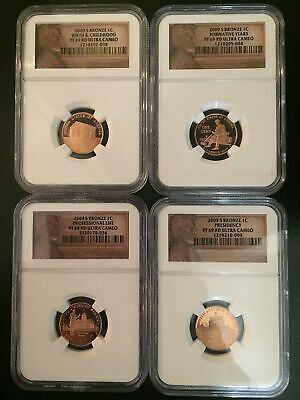 2009-S NGC PF 69 4 Coin Commerative Lincoln Bicentennial Proof Cent  (Full Set)
