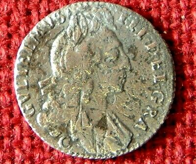 Rarer  WILLIAM III SIXPENCE 1696 Chester Mint  from ASSOCIATION Shipwreck 1707