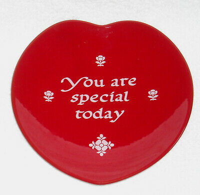 Waechtersbach Germany You are Special Today red ceramic heart shaped plate 8""