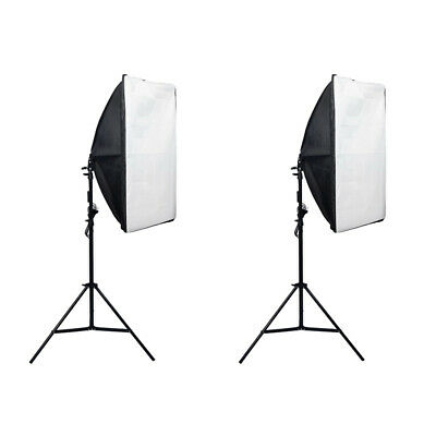 2Piece Studio Photography Softbox Light Stand Kit D'éclairage Continu 135W