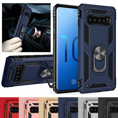 For Samsung Galaxy S10 5G S9 S8+Note 9 8 Magnetic Case with 360 Ring Stand Cover
