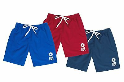 Henleys Da Uomo detmer Rosso Swim Shorts Beach POOL Surf Nuoto Trunks Bottoms