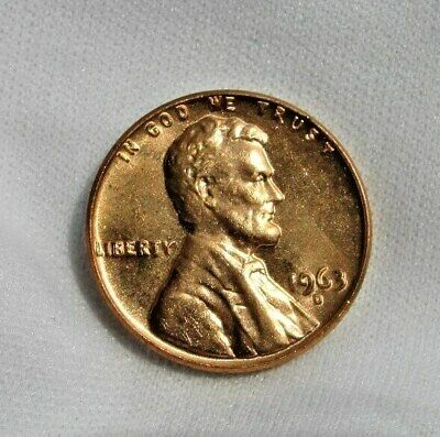 1963 LINCOLN MEMORIAL Cent Penny 1C  ICG MS67 RD  Rare in MS67  $720