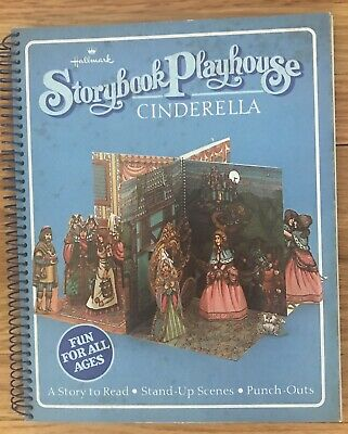 Storybook Playhouse Cinderella Paper Dolls Pop Up Book Punch outs Hallmark