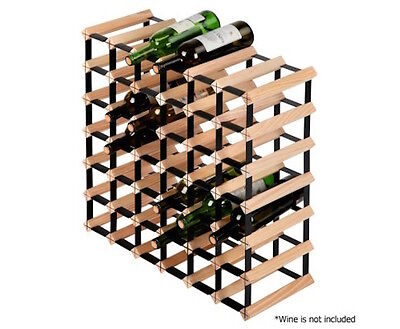 NEW Wine Rack Timber Wooden Storage Cellar Vintry Organiser Stand 42 Bottle Vino