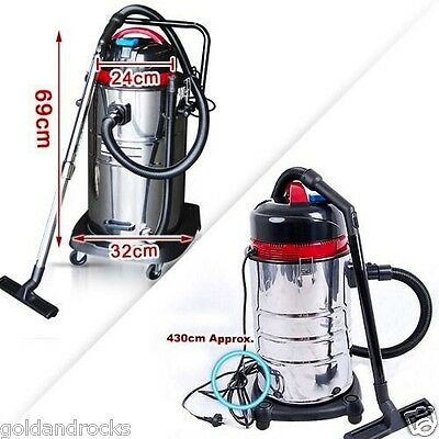 New 30L Stainless Steel Bagless Wet Dry Vacuum Cleaner Vac Commercial Industrial