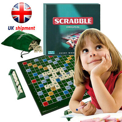 Family Original Scrabble Game Kid Adult Game Educational Learning Toy Party UK