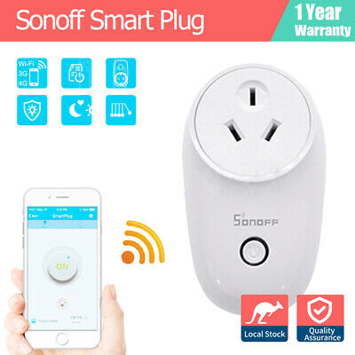 New Sonoff 10A WiFi Smart Plug Socket Power Google Home Outlet Remote ECHO