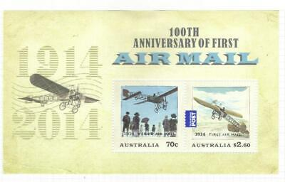 Australia 2014 Cent First Airmail Mh M/S