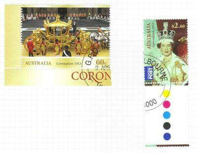 AUSTRALIA 2013 60th ABBIV OF CORONATION USED SET OF 2
