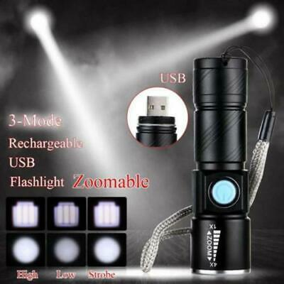 USB Rechargeable LED MINI Bike Bicycle Head Front Light Lamp Torch Flashlight