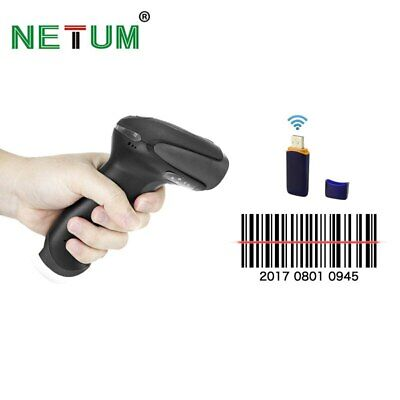 NT-2028 Wireless Barcode Scanner Laser Bar Code Reader with USB Receiver for POS