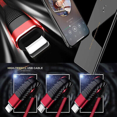 3in1 Multi Charger Cable Cord Lighting TypeC Micro USB Data Sync Fast Chargin lN