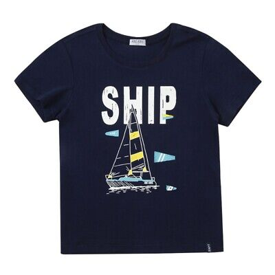 ABC KIDS Baby Boys Crew Neck T-Shirt Child Sailboat Printed blouse Tops Clothes