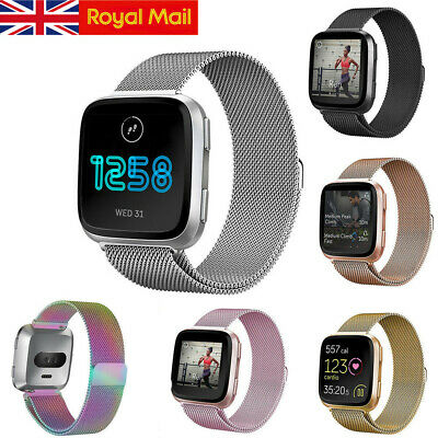 For Fitbit Versa Replacement Metal Milanese Band Strap Secure Wristband UK