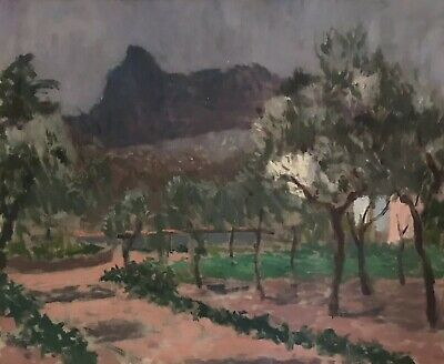 Fine Mid 20Th Century French Impressionist Oil - Provencal Mountain & House