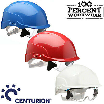 Centurion Spectrum Safety Helmet with Integrated Clear Lens Over Specs Hard Hat