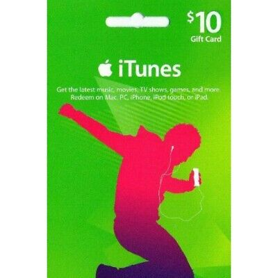 Email Delivery Apple iTunes $10 US Dollar Gift Card US APP Store Only