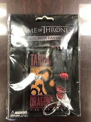 Game Of Thrones House Of Targaryen Lanyard