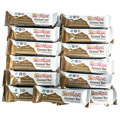 25 Milk Chocolate Coconut LowCarb HighProtein MRP VLCD Diet Bars Slim &And Save