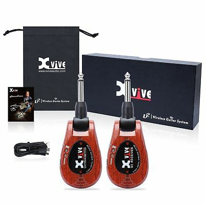 Xvive U2 Rechargeable Digital 2.4Ghz Wireless System Red Wood.USB Charged.