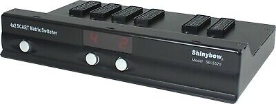 4x2 SCART MATRIX ROUTING SWITCHER Selector Switch w/ AUDIO NEW