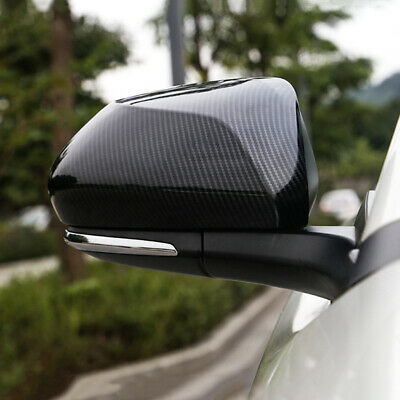 2Pcs Carbon Fiber Rearview Side Mirror Trim Cover for Toyota C-HR CHR 2018-2019