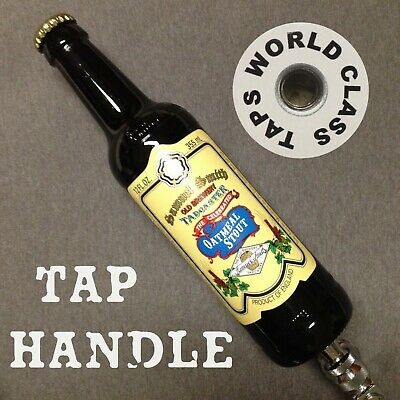 SAMUEL SMITH Oatmeal Stout BEER TAP HANDLE bar MARKER green RECYCLED up