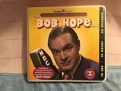 Radio Spirits Bob Hope Show 10 CDs 10 Hours 20 Episodes  EUC