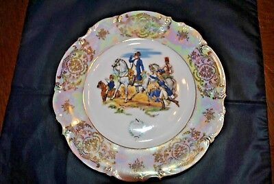 Assiette Napoléon - Bataille De Wagram 1809 - Porcelaine Bavaria Germany (2)