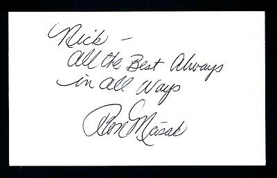 Ron Masak Actor Murder She Wrote, Twilight Zone Signed 3x5 Index Card T2811