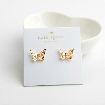 076920d17 KATE SPADE NEW York Social Butterfly Stud Earrings Gold Tone ...