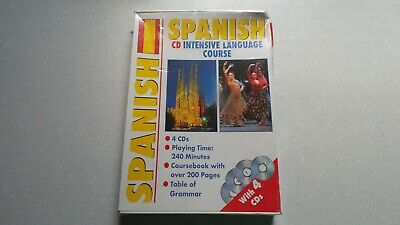 Sealed Spanish Cd Language Course 4 Cd's And Book