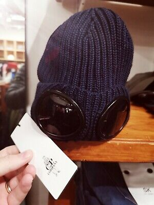 a84b299ec CP COMPANY 100% Wool Beanie Hat NO Lens Goggle Top Made In Italy ...
