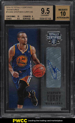 2014 Totally Certified Signatures Stephen Curry AUTO /49 BGS 9.5 GEM MINT (PWCC)