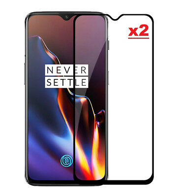 2 x Tempered Glass Screen Protector Guard Film For OnePlus 7 Full Cover