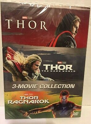THOR Trilogy 3 Film Movie Collection (DVD )  New & Sealed with Slipcover