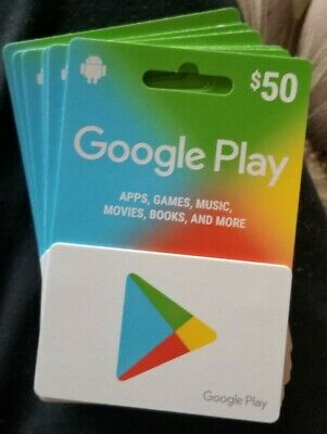 Google Play Gift Card - $50 Brand New/ Sealed