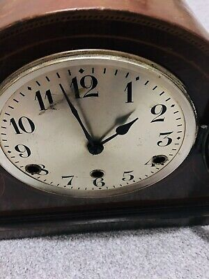 vintage Art Deco German Drgm 8 Day Mantel Clock With Westminster Chimes